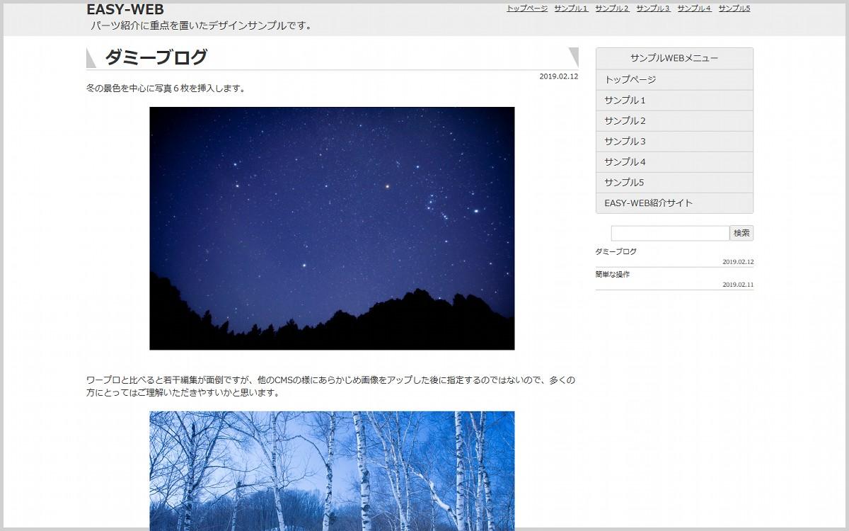 EASY-WEBデザインサンプル5